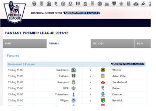 Barclays Premier League Fantasy Fooball