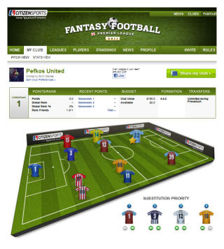 UK Fantasy Football Info - Fantasy Premier League Facebook App